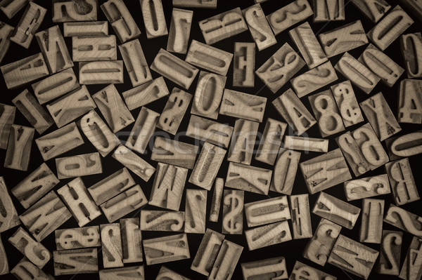 letters and numbers in letterpress wood type Stock photo © PixelsAway