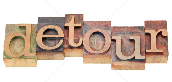 Omweg woord type geïsoleerd vintage Stockfoto © PixelsAway