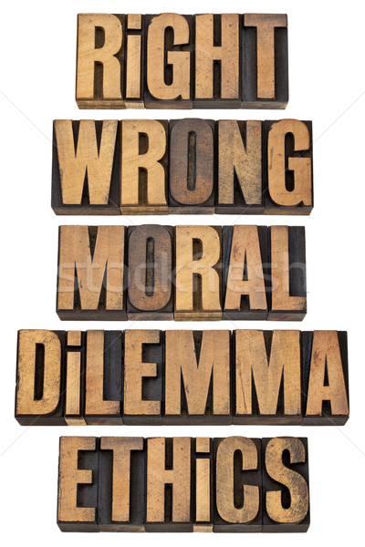moral dilemma concept Stock photo © PixelsAway