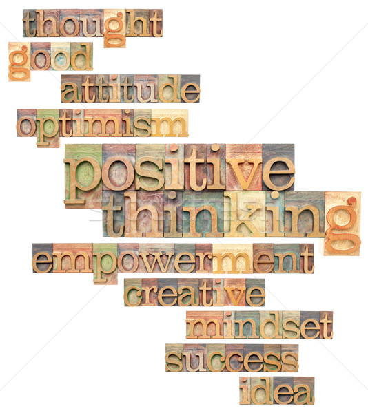 positive thinking word cloud Stock photo © PixelsAway