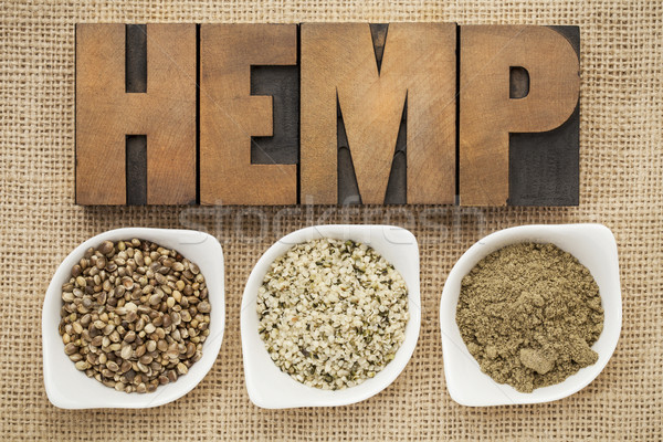 hemp seeds, hearts and prtotein Stock photo © PixelsAway