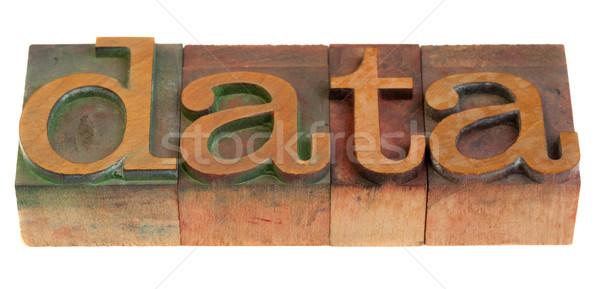 data word in wooden typeface Stock photo © PixelsAway