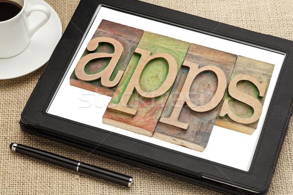 apps word on digital tablet Stock photo © PixelsAway