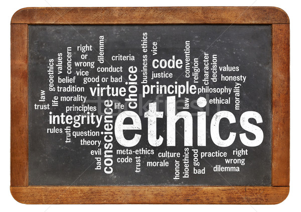 ethics word cloud Stock photo © PixelsAway