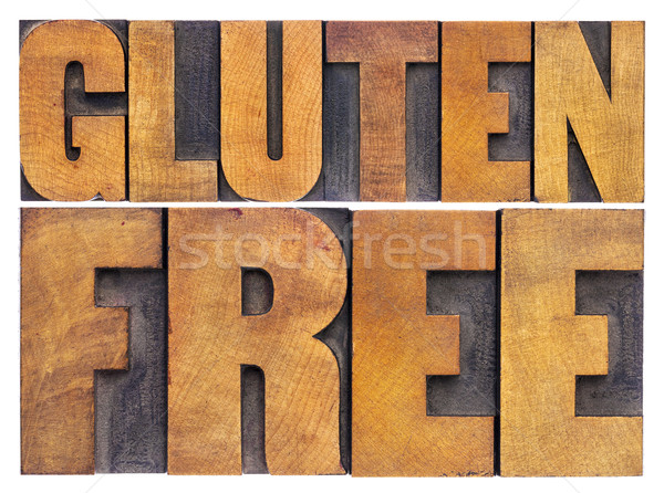 gluten free words in wood type Stock photo © PixelsAway