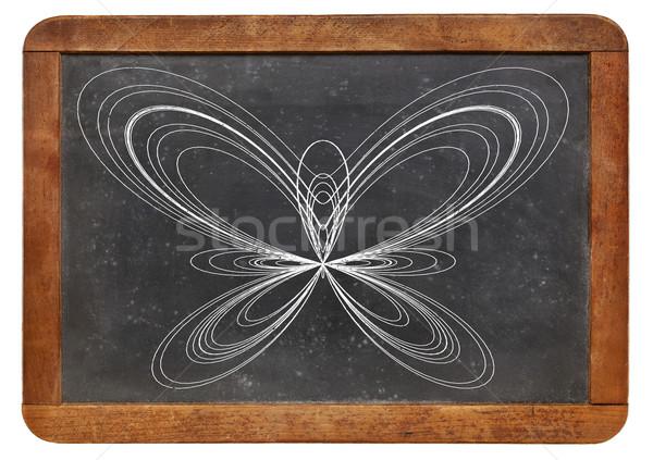 Vlinder curve Blackboard grafisch display functie Stockfoto © PixelsAway