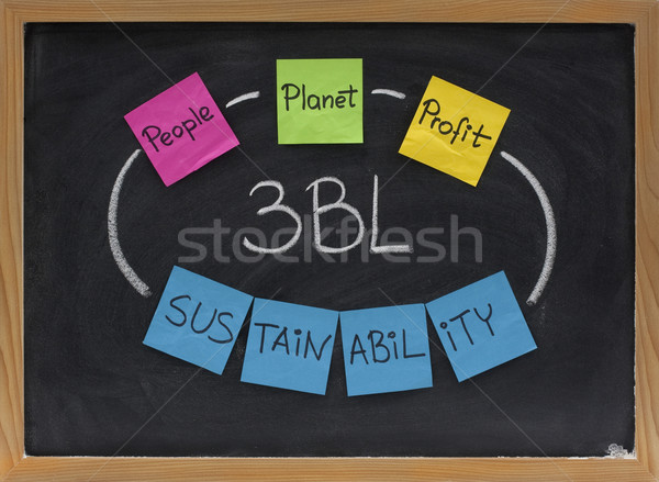 Pessoas planeta lucro sustentabilidade fundo linha Foto stock © PixelsAway