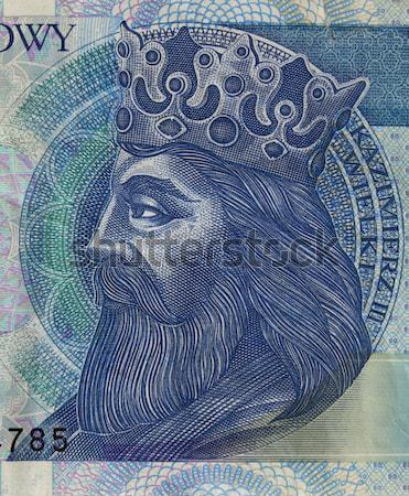 Polish medieval king on banknote Stock photo © PixelsAway