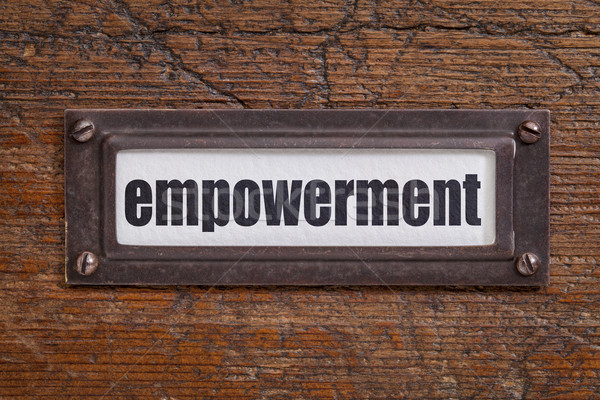 empowerment - file cabinet label Stock photo © PixelsAway