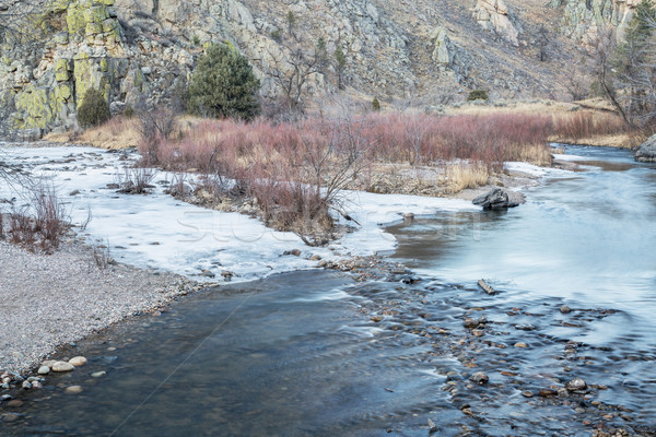 Poudre River in winter Stock photo © PixelsAway