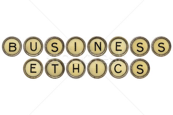Działalności etyka maszyny do pisania klucze tekst starych Zdjęcia stock © PixelsAway