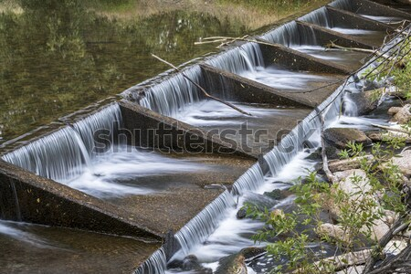 irrigation ditch with a flow measurement structure Stock photo © PixelsAway