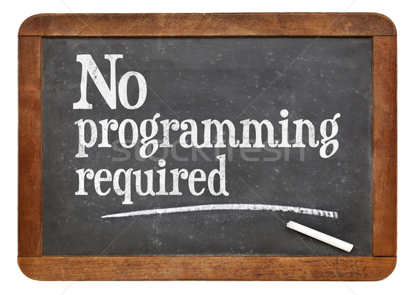 No programming required blackboard sign Stock photo © PixelsAway