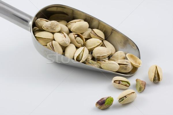 Schep gezouten noten witte Stockfoto © PixelsAway
