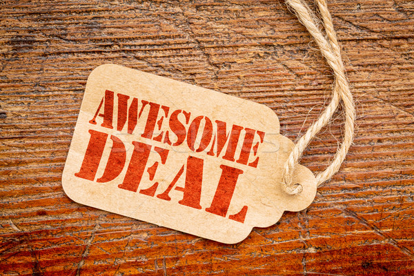awesome deal sign -  price tag Stock photo © PixelsAway