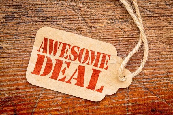 Deal teken prijs tag Rood Stockfoto © PixelsAway