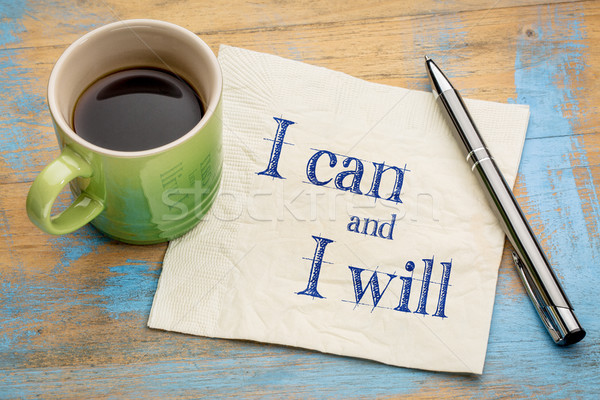 I can and will motivational concept Stock photo © PixelsAway