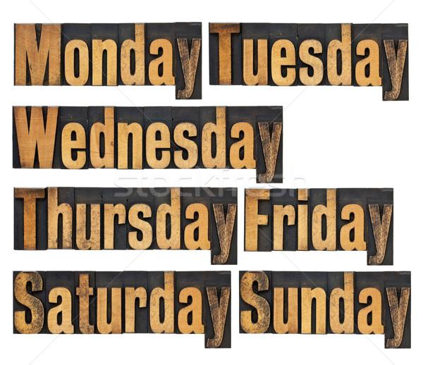 days of week in wood type Stock photo © PixelsAway