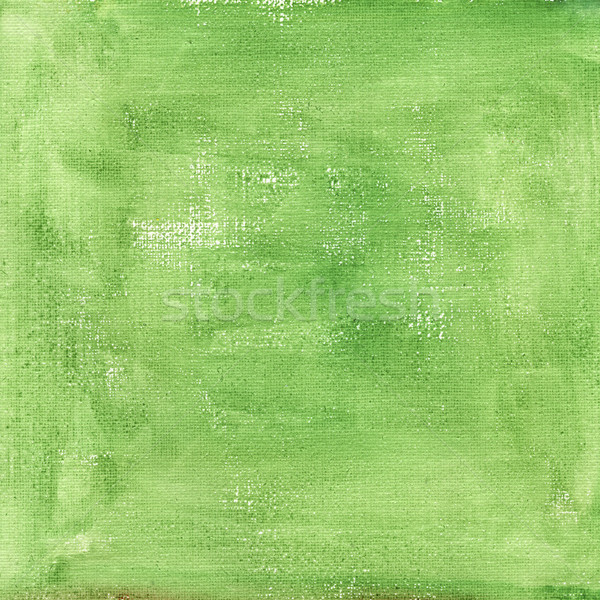 green  watercolor abstract with canvas texture Stock photo © PixelsAway