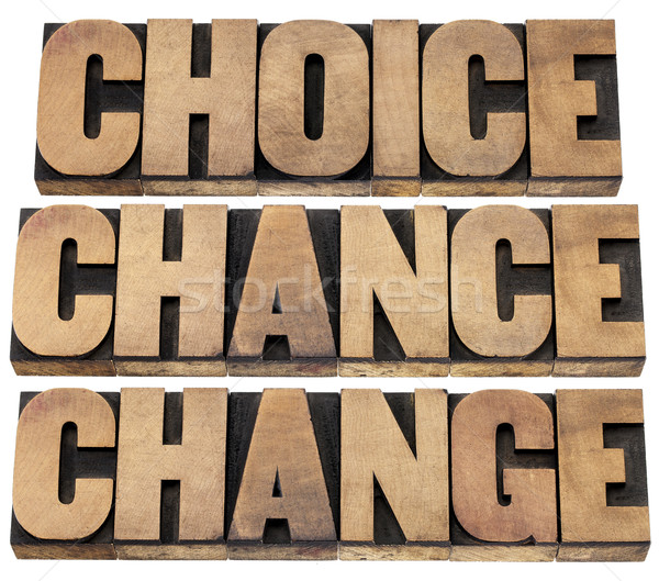 choice, chance and change Stock photo © PixelsAway