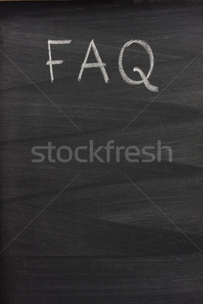 Stock photo: frequently asked questions (FAQ) on a blackboard