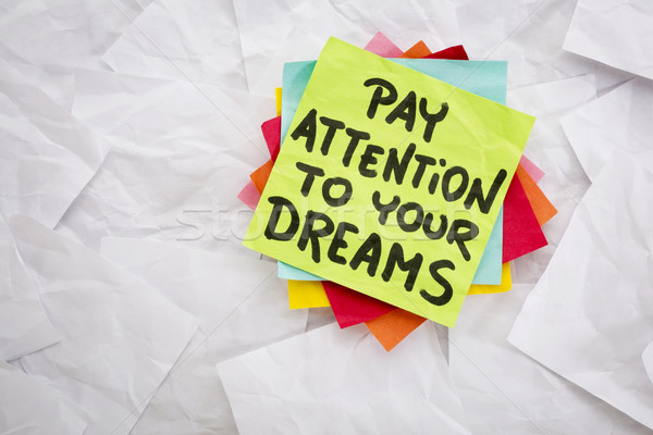 pay attention to your dreams Stock photo © PixelsAway