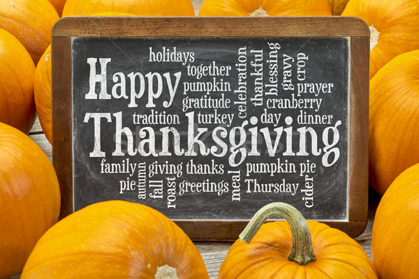 Happy Thanksgiving word cloud  Stock photo © PixelsAway