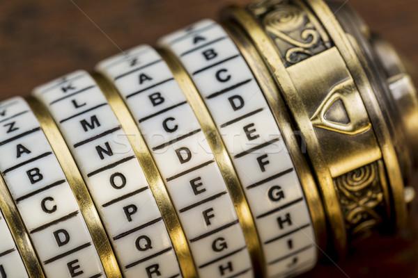 Kodu słowo hasło połączenie puzzle polu Zdjęcia stock © PixelsAway