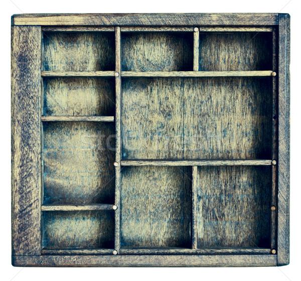 vintage typesetter or shadow box Stock photo © PixelsAway