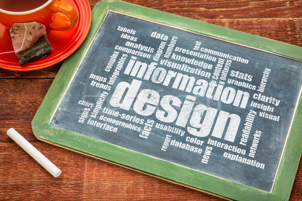 Stock photo: information design word cloud