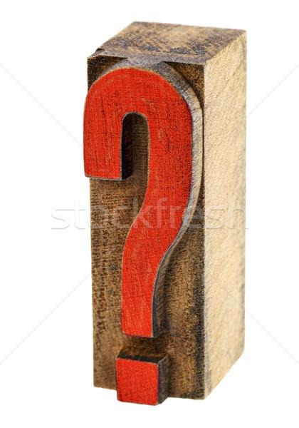 question mark in wood type Stock photo © PixelsAway