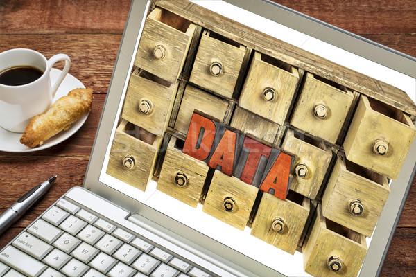 コンピュータ データストレージ データ 言葉 ヴィンテージ ストックフォト © PixelsAway