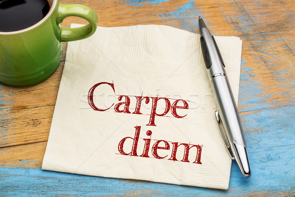 Carpe Diem on napkin Stock photo © PixelsAway
