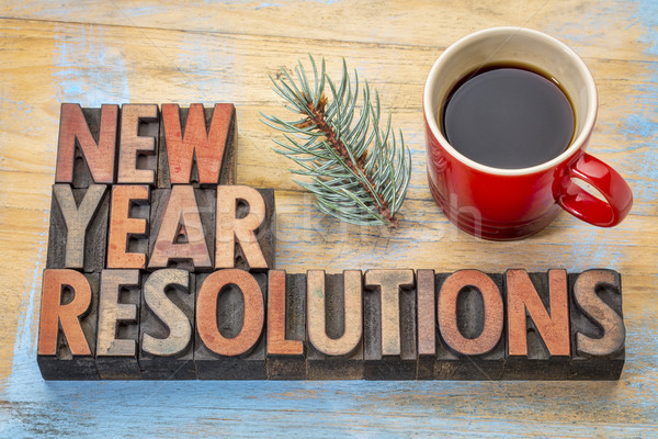 New Year resolutions Stock photo © PixelsAway