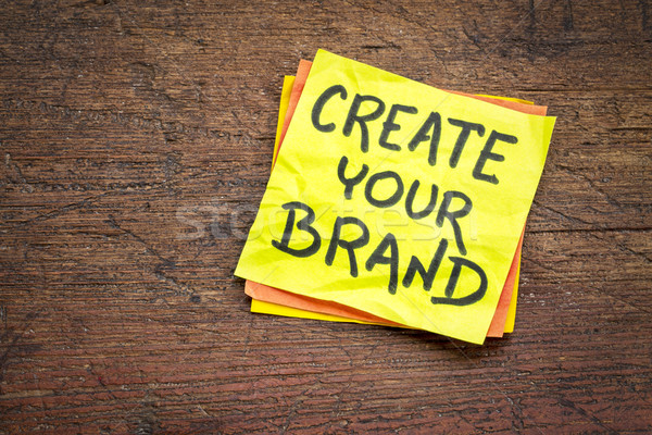 Create your brand sticky note Stock photo © PixelsAway