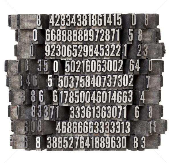 ランダム 番号 タイプ ヴィンテージ グランジ ストックフォト © PixelsAway