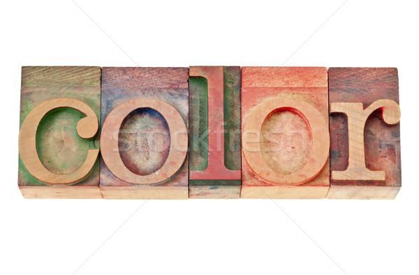 Stok fotoğraf: Renk · kelime · ahşap · tip · yalıtılmış · bağbozumu