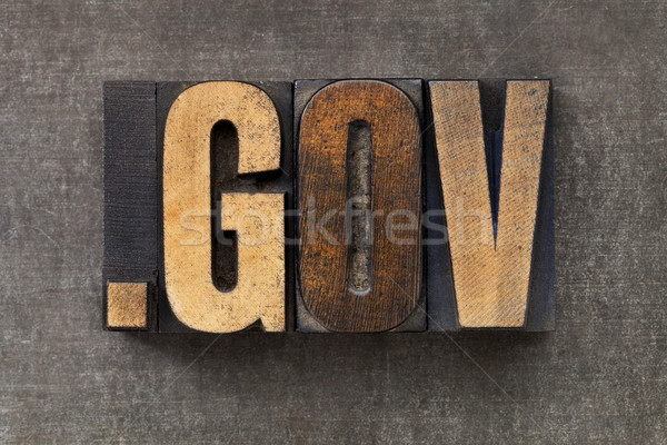 Internet dominio gobierno punto vintage Foto stock © PixelsAway