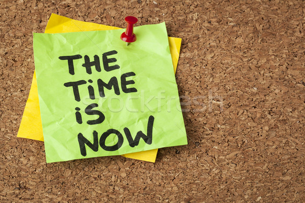 the time is now Stock photo © PixelsAway