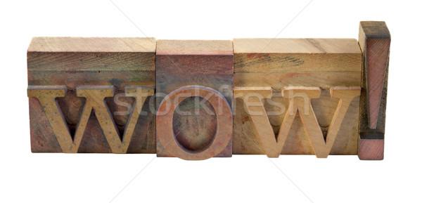 Wow palavra tipo vintage Foto stock © PixelsAway