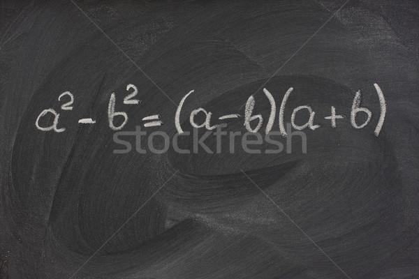Eenvoudige wiskundig formule Blackboard witte Stockfoto © PixelsAway