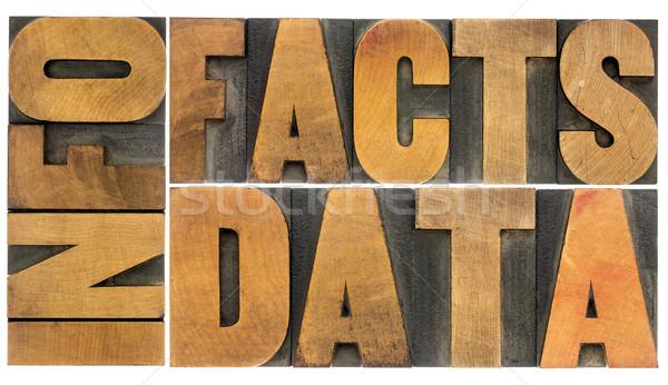 Információ adat tények fa szó Stock fotó © PixelsAway