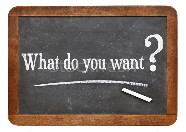 Stock photo: what do you want question