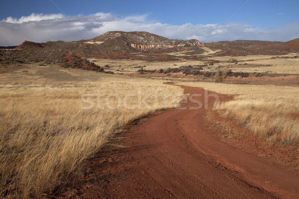windy ranch road in mountain valley Stock photo © PixelsAway