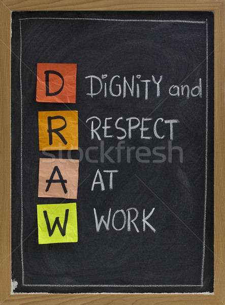 dignity and respect at work Stock photo © PixelsAway