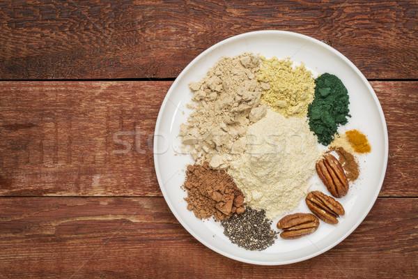 dry superfood smoothie ingredients Stock photo © PixelsAway