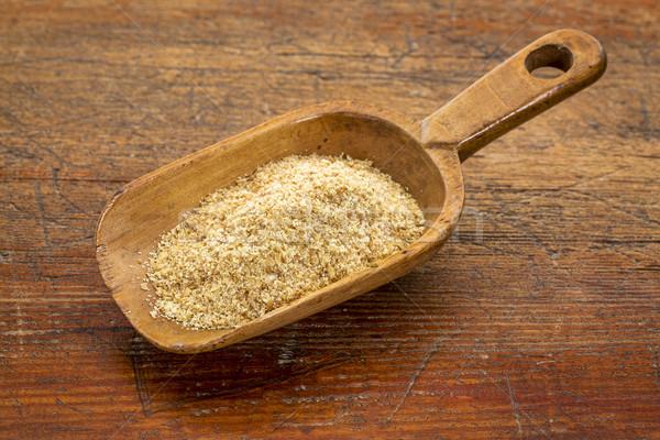 scoop of golden flax seed meal  Stock photo © PixelsAway