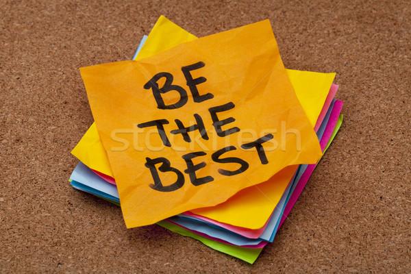 O melhor lembrete motivacional colorido notas Foto stock © PixelsAway