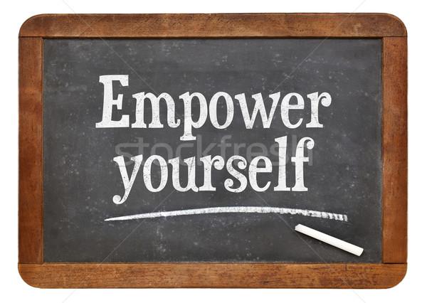 Empower yourself motivational phrase Stock photo © PixelsAway