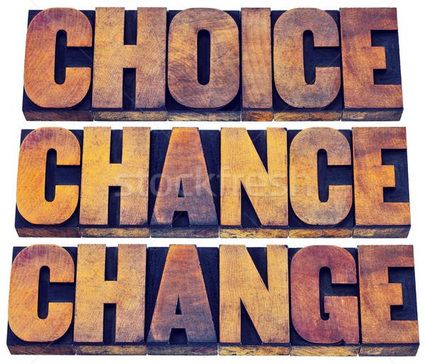 выбора шанс изменений слово аннотация жизни Сток-фото © PixelsAway